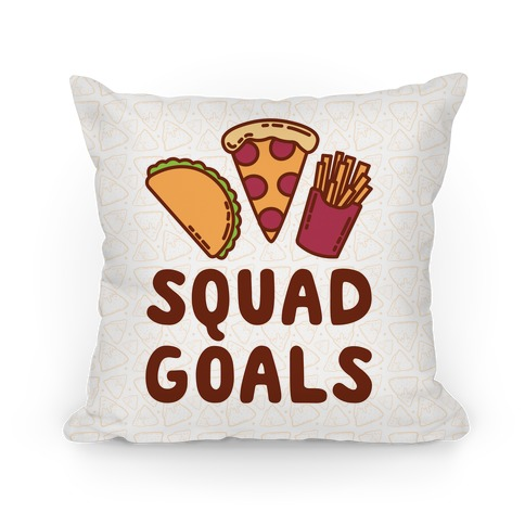 Junk Food Squad Goals Pillow
