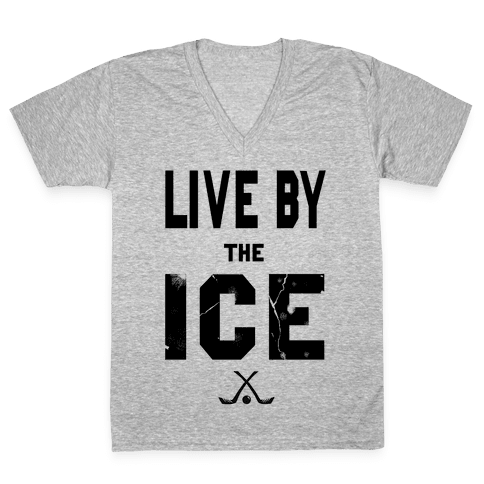 Live by the Ice V-Neck Tee Shirt