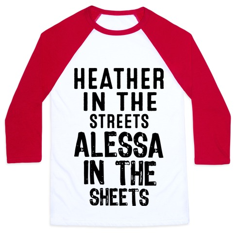 Heather in the Sheets Baseball Tee