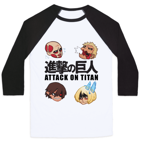 Attack On Titan Heads Baseball Tee