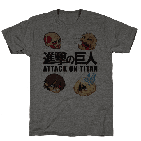 Attack On Titan Heads Mens T-Shirt