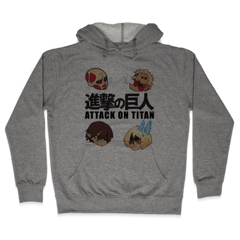 Attack On Titan Heads Hooded Sweatshirt