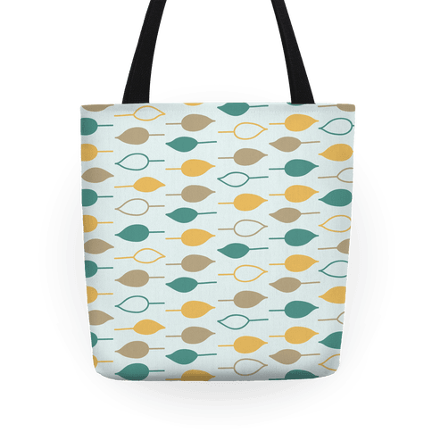 Leaf Pattern Tote (Blue) Tote