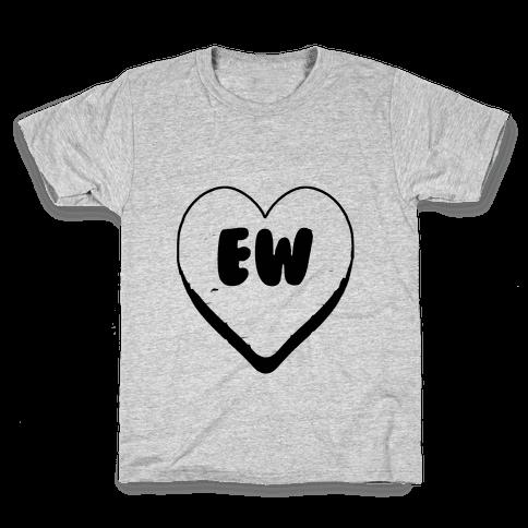 Valentine's Day Heart Ew Kids T-Shirt