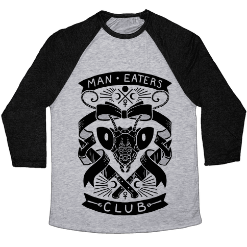 Praying Mantis Man-Eater's Club Baseball Tee
