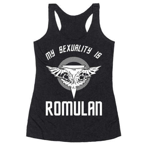 My Sexuality Is Romulan Racerback Tank Top