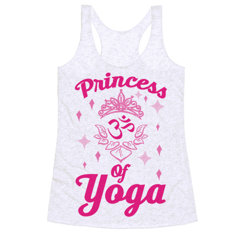 Princess Of Yoga Racerback Tank Top