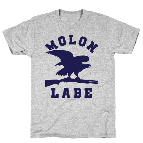 Molon Labe Eagle Mens T-Shirt