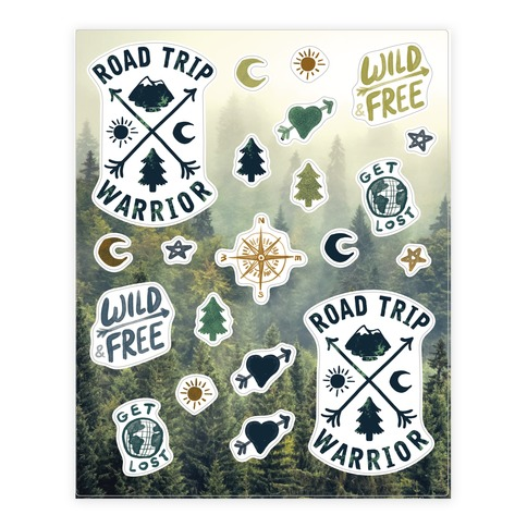 Road Trip Warrior Sticker and Decal Sheet
