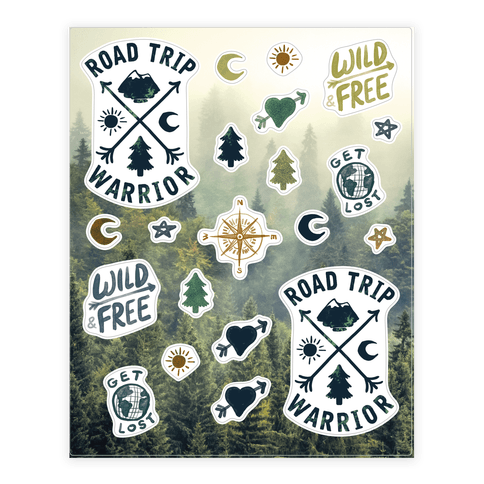 Road Trip Warrior  Sticker/Decal Sheet