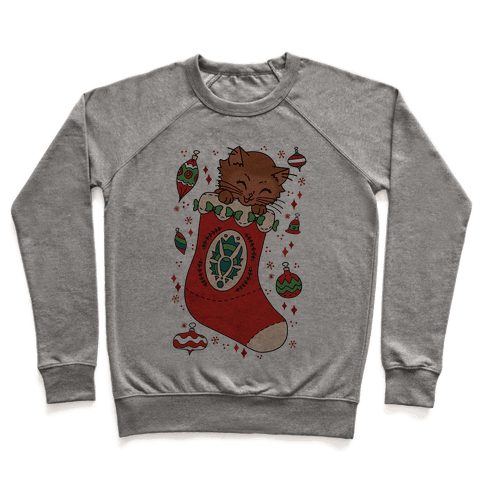 Vintage Cat In A Stocking Pullover