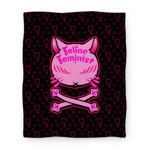 Feline Feminist Blanket