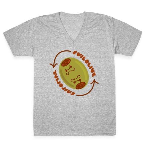 Evil Olive V-Neck Tee Shirt