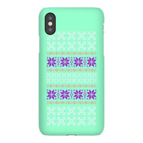 Sweater Pattern Print Mint Phone Case