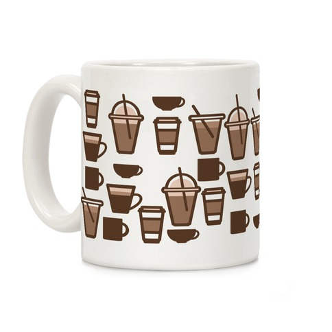 Cute Coffee Pattern Coffee Mug