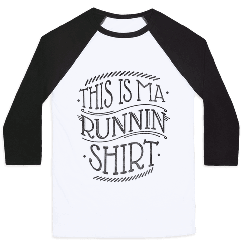 Running Shirt (Grey) Baseball Tee