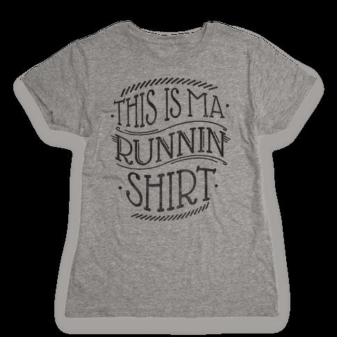Running Shirt (Grey) Womens T-Shirt