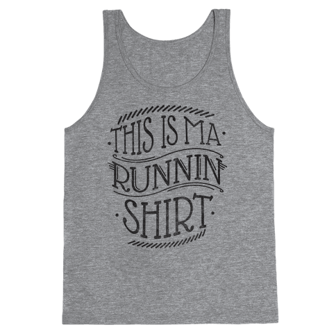 Running Shirt (Grey) Tank Top
