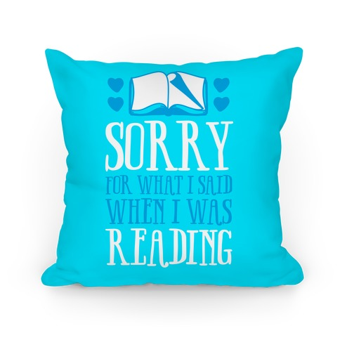 Sorry For What I Said When I Was Reading Pillow