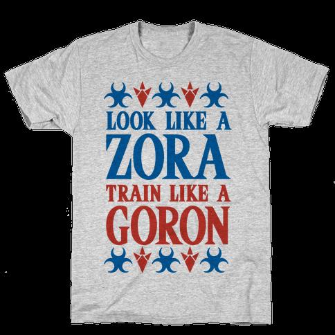 Look Like A Zora Train Like A Goron Mens T-Shirt