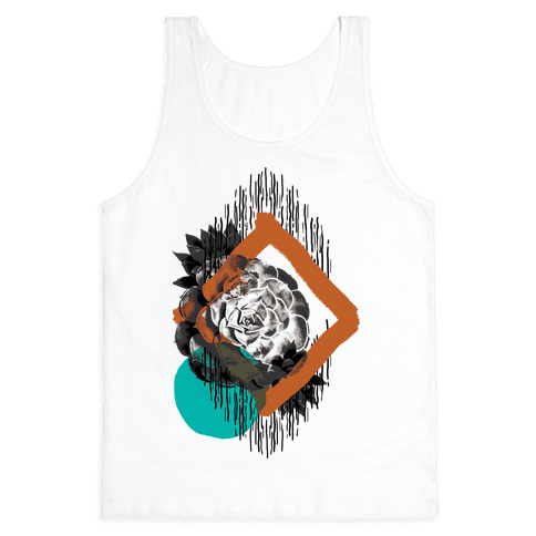 Succulent Abstract Collage Tank Top