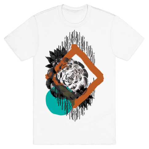 Succulent Abstract Collage Mens T-Shirt