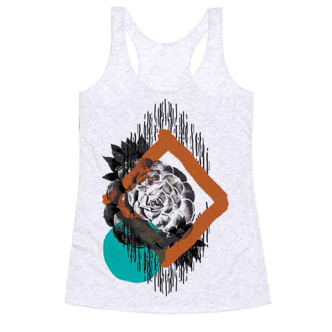 Succulent Abstract Collage Racerback Tank Top