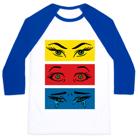 Pop Art Eyes Baseball Tee