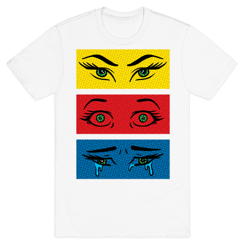 Pop Art Eyes Mens T-Shirt