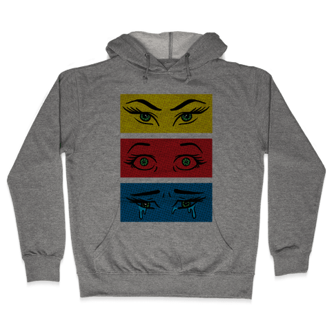 Pop Art Eyes Hooded Sweatshirt