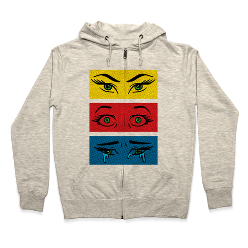 Pop Art Eyes Zip Hoodie