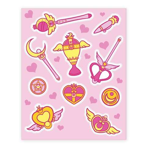 Magical Girl Weapons Sticker and Decal Sheet
