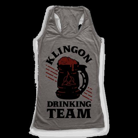 Klingon Drinking Team Racerback Tank Top
