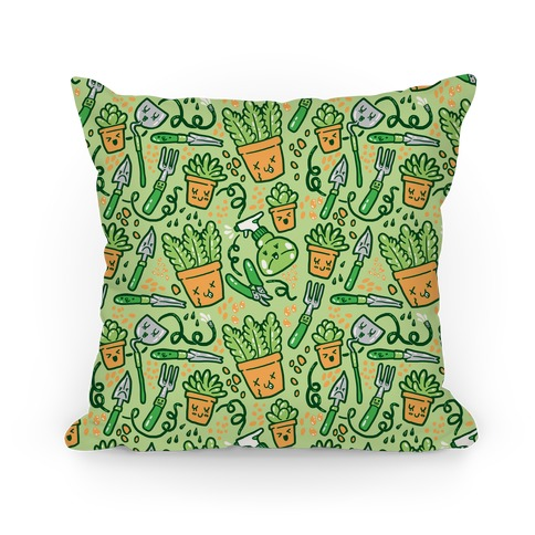 Kawaii Plants and Gardening Tools Pillow
