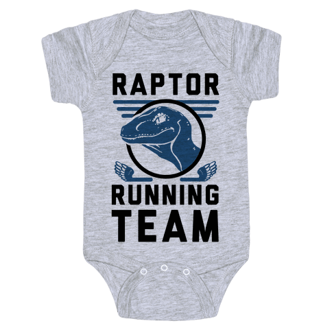 Raptor Running Team Baby Onesy