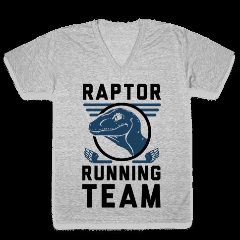 Raptor Running Team V-Neck Tee Shirt