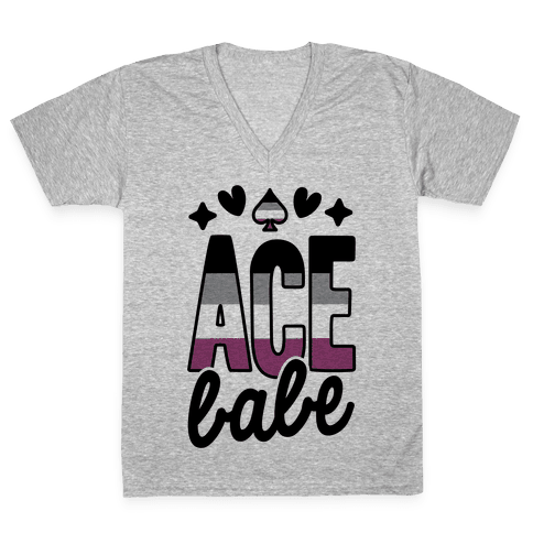 Ace Babe V-Neck Tee Shirt