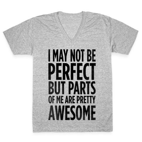 I May Not be Perfect... V-Neck Tee Shirt