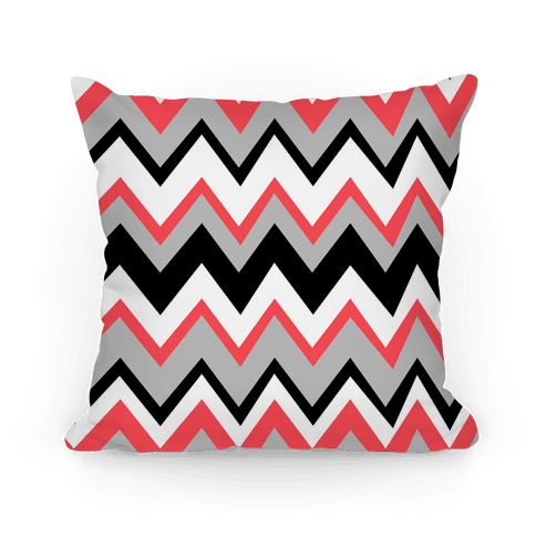 Wacky Zig Zag Pattern Pillow