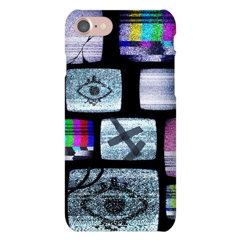 Static Tv Set Phone Case