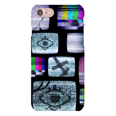 Static Tv Set Phone Case