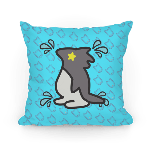 Splash Free! Nagisa Mascot Pattern Pillow