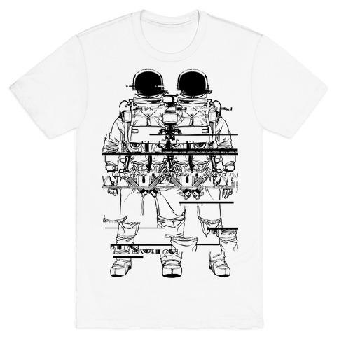 Twin Astronaut Glitch T-Shirt