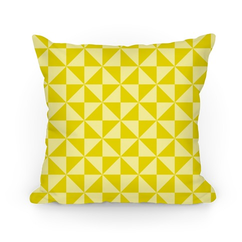Yellow Large Pinwheel Pattern Pillow