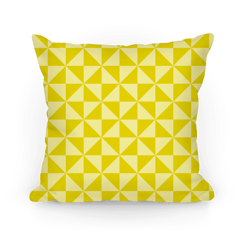 Large Yellow Throw Pillow : Yellow Large Pinwheel Pattern - Throw Pillow - HUMAN