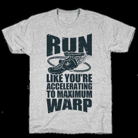 Accelerating to Maximum Warp Mens T-Shirt