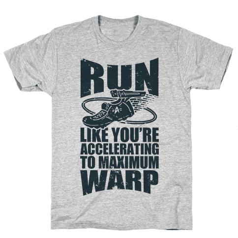 Accelerating to Maximum Warp Mens T-Shirt