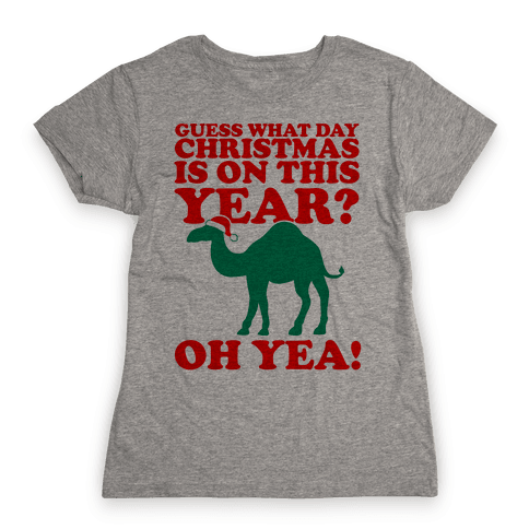 Guess What Day Christmas is on this Year? Womens T-Shirt