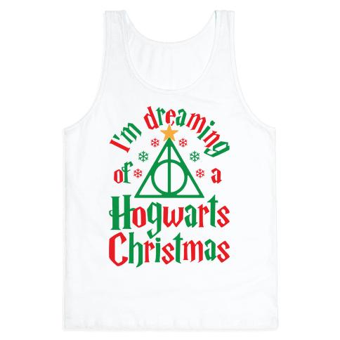 I'm Dreaming Of A Hogwarts Christmas Tank Top
