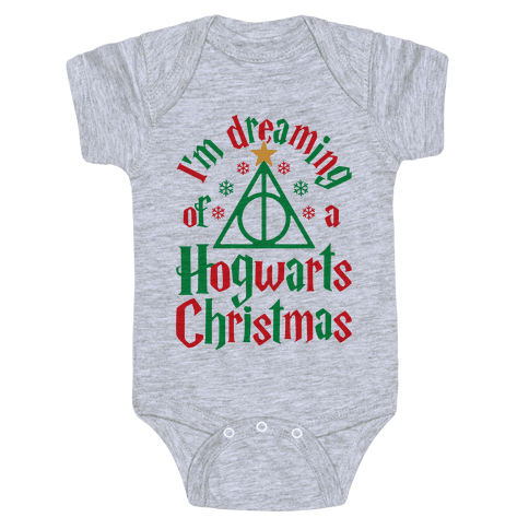 I'm Dreaming Of A Hogwarts Christmas Baby Onesy